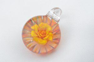 Yellow Peace Rose pendant