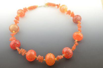 delicate pattern in each handmade bead