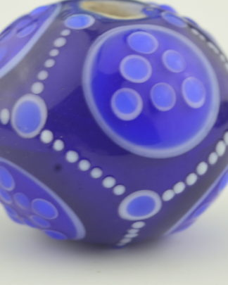 fancy tiny dot blue and white