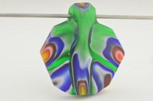Rainbow Cane lapidary Pendant