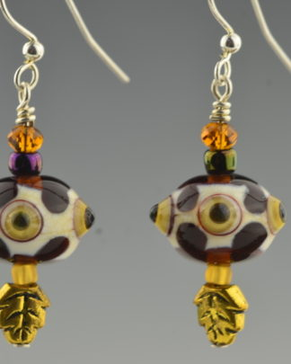 bird eye earrings