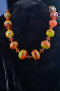 inner Flame Blown Bead Necklace