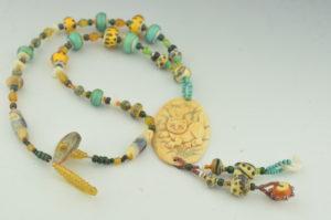playful cat, necklace