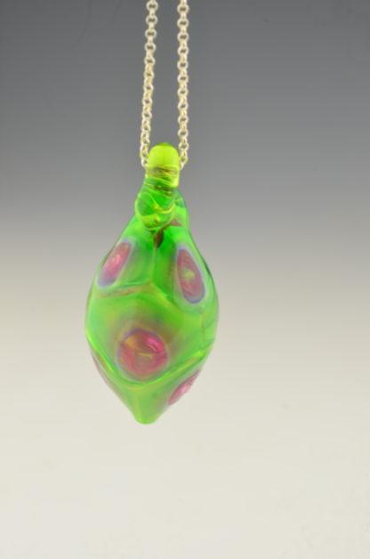 blown pendant green ruby