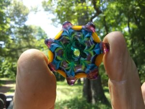 7 pointed color stratified star