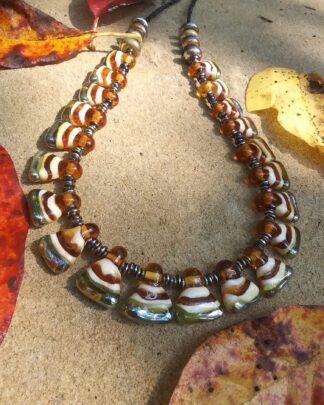 autumn Hellinistic pendant Necklace